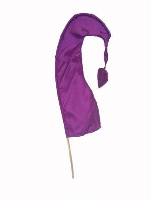 balivlag (umbul umbul) 50cm DONKERPAARS