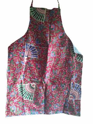 Batik keukenschort met furinglaag