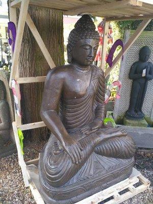 Boeddha XL van steen. 1,5m hoog