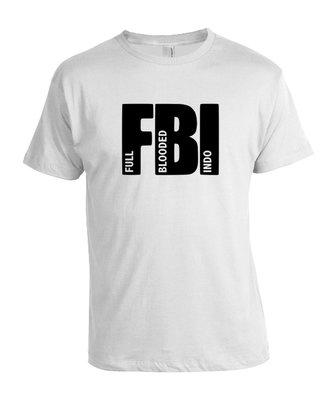 """Tshirt  """"FBI"""" (wit)"""