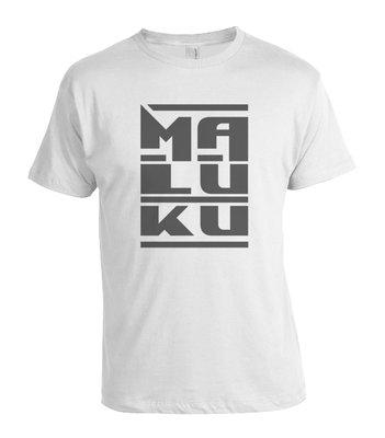 "Tshirt  ""MALUKU"" (wit)"