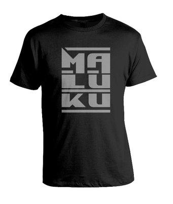 "Tshirt  ""MALUKU"" (zwart)"