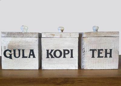 Kopi Teh Gula (Bruin/wit)