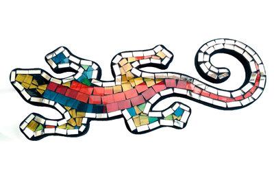 Hagedis/Cicak Mozaik - Kleurrijk 30cm