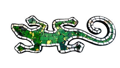 Hagedis/Cicak Mozaik - Groen 30cm