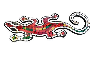 Hagedis/Cicak Mozaik - Kleurrijk 40cm