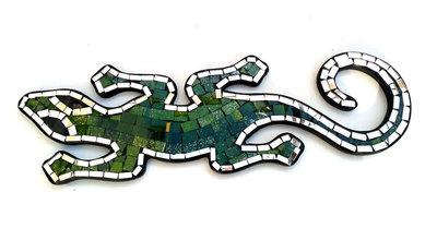 Hagedis/Cicak Mozaik - Groen 40cm