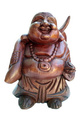 Happy Boeddha / putai / hokei 20cm DONKER