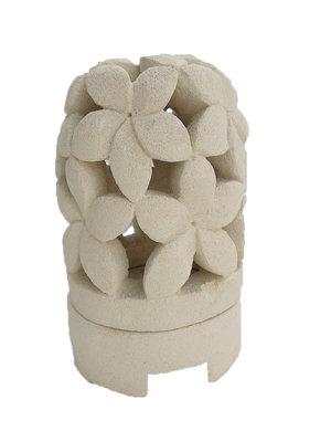 Lampje / waxine houder van steen JEPUN