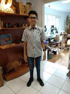 Batikoverhemd KIDS 11-14 jaar