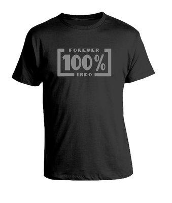 Tshirt 100 procent Indo (zwart)