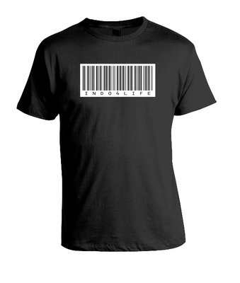 Tshirt Indo 4 Life (zwart)