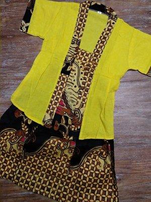 Kebaya Kutu geel 8 jaar/XL
