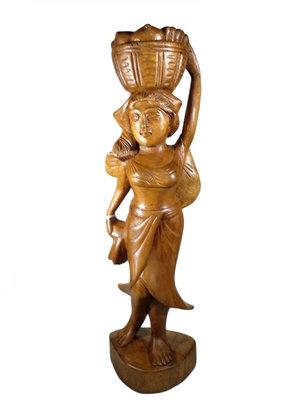 Balinese vrouw houtsnijwerk