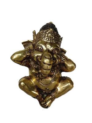 Ganesha van brons, goudkleurig