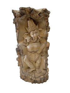 Houtsnijwerk Ganesha Pangkal Buaya