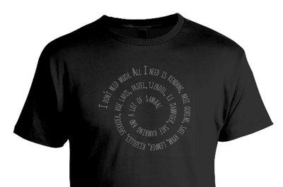 Tshirt All I need is..  (zwart)