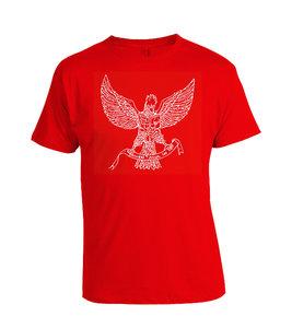 Tshirt Garuda Abstract rood