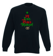 "Sweater ""Peace, Love, Makan"""