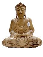 Houtsnijwerk Boeddha 26cm