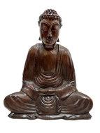 Houtsnijwerk Boeddha 19cm