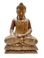 Houtsnijwerk Boeddha groot, 53cm