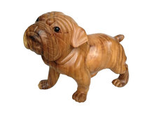 Houtsnijwerk hond / bulldog