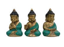 Boeddha brons, set van drie (groen)
