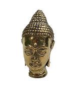 Boeddha hoofdje, brons goudkleuri