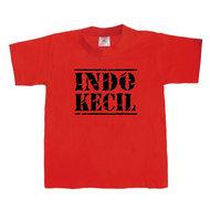 Kinder T-shirt INDO-KECIL (rood/zwart)