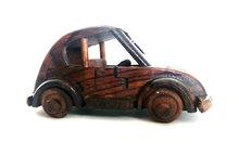 Miniatuur kever van hout