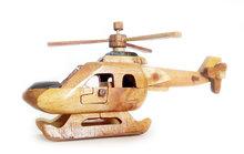 Miniatuur helicopter van hout