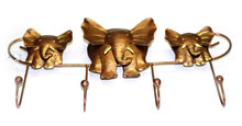 metalen kinderkapstok met drie olifantjes