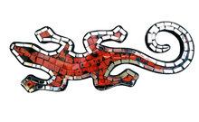 Hagedis/Cicak Mozaik - Oranje 30cm