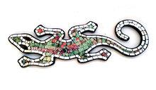 Hagedis/Cicak Mozaik - Kleurrijk/groen 40cm