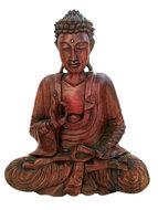 Boeddha van hout 30cm