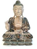 Boeddha grijs / tweekleurig 30cm