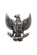 Hanger/pin Garuda Pancasila zilverkleurig